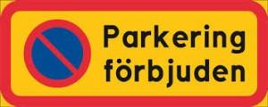 parkieringsförbud